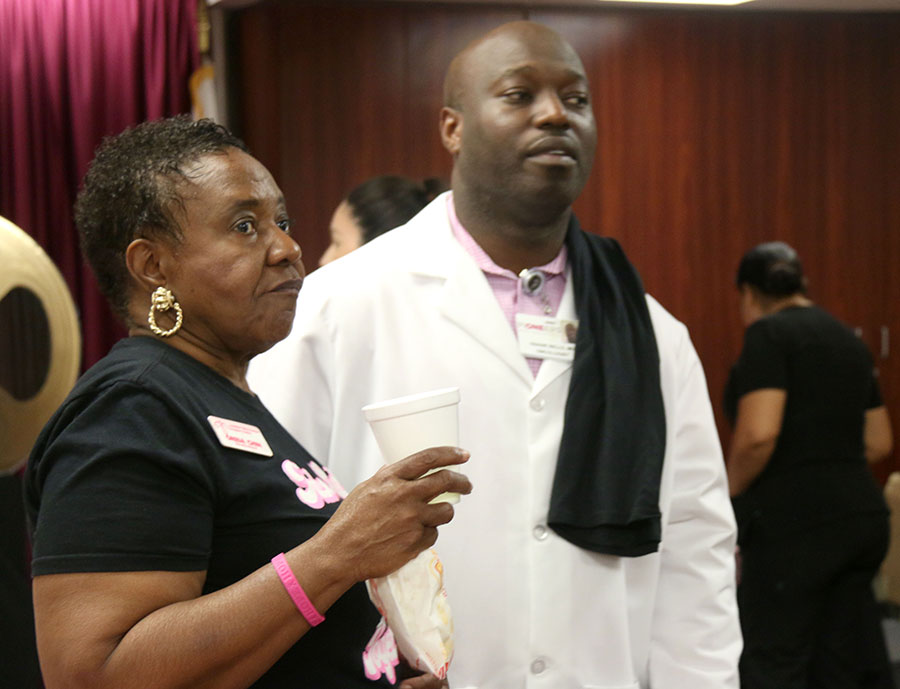 Poignant Testimony at Pioneers Breast Cancer Open House