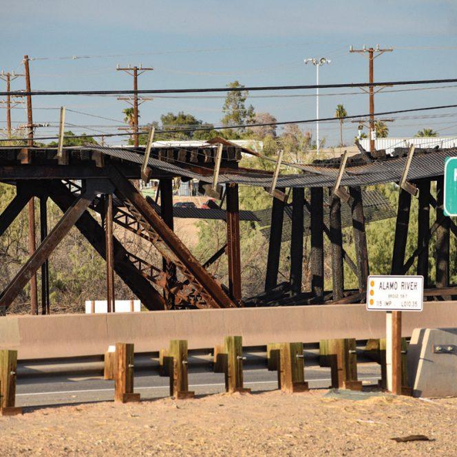 Alamo River Railroad Bridge, Holtville CA