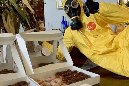 Hazmat Bakery Delivers Doughnuts During Distress