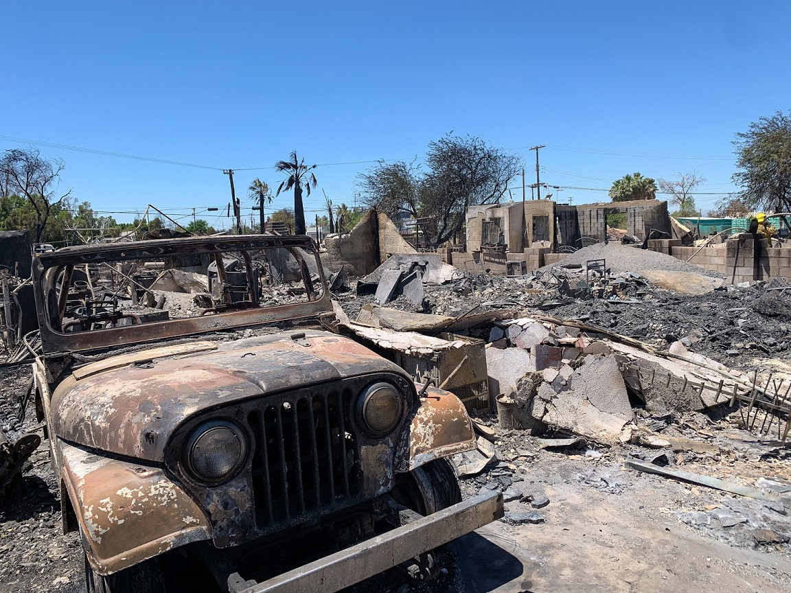 Niland Devastated by Fire; One Dead, 40 Families Homeless
